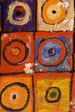 Art abstract. Multi colored art close up texture abstract, circles and squares Royalty Free Stock Photos