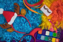 Preparation for the New Year carnival. stock photography
