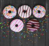 Multi-colored Assortment Of Donuts Stock Images