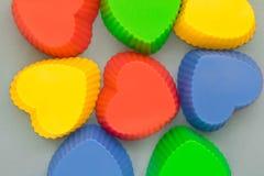 Multi-colored bakselvormen op een lichte achtergrond royalty-vrije stock foto