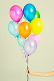 Multi-colored balloons Stock Image