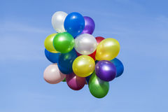 Multi colored balloons Stock Image