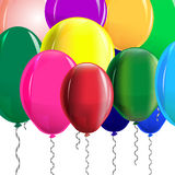 Multi-colored balloons Royalty Free Stock Photo