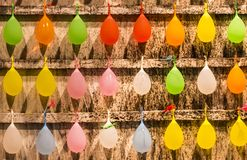 Multi-colored balloons at a amusement game stall along Kenting Street Night Market royalty free stock photos