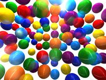 Multi-colored balloons 3D. Multi-colored balloons on a white background 3D Royalty Free Stock Image