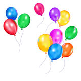 Multi-colored balloons Stock Images