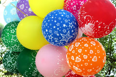 Multi-colored balloons Royalty Free Stock Images
