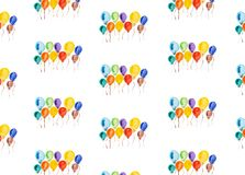 Multi-colored balloons watercolor Royalty Free Stock Photo