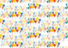 Multi-colored balloons watercolor Stock Image