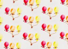 Multi-colored balloons watercolor Stock Images