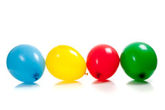 Multi-colored balloons on white Stock Photography