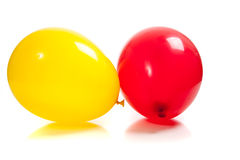 Multi-colored balloons on white Royalty Free Stock Images