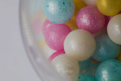 Multi-colored balls close-up, macro shot Royalty Free Stock Photos