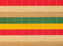 Multi-colored bamboo mat texture Royalty Free Stock Photo