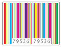 Multi colored barcode Stock Image