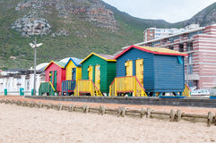 Multi-colored beach huts at Muizenberg Stock Images