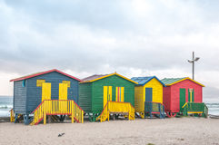 Multi-colored beach huts at Muizenberg Royalty Free Stock Image
