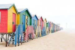 Multi-colored beach huts at Muizenberg Stock Image