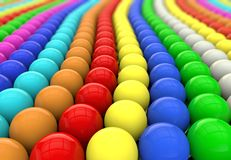 Multi-colored beads Stock Photography