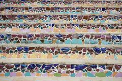 Multi-colored betegelde treden Royalty-vrije Stock Afbeeldingen