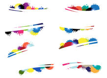 Multi-colored blots Stock Images