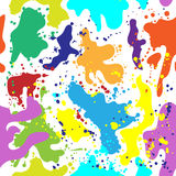 Multi colored blots seamless background for holi festival. Illustration in vector format Stock Photography