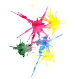 Multi-colored blots. On white background Royalty Free Stock Images