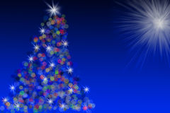 Multi-colored Bokeh Christmas Tree illustration Stock Photos