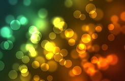 Multi-colored bokeh from circles Royalty Free Stock Images
