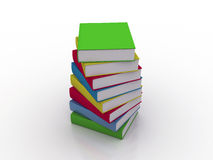 Multi colored books Stock Photography