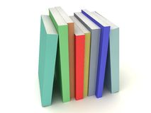 Multi-colored books line Stock Photo