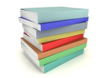 Multi-colored books stack Royalty Free Stock Photography