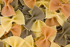 Multi-colored bow pasta Royalty Free Stock Photo