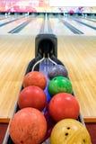Multi colored bowling balls Stock Image