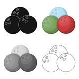 Multi colored bowling balls.Bowling fun at the pub. Pub single icon in cartoon style vector symbol stock illustration. Multi colored bowling balls.Bowling fun Royalty Free Stock Photos
