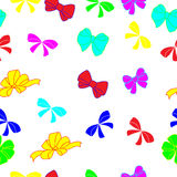 Multi-colored bows Royalty Free Stock Images