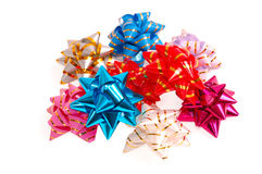 Multi-colored bows from a packing tape Stock Photography