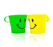 Multi-colored bright cups Royalty Free Stock Photos