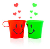 Multi-colored bright cups Royalty Free Stock Photo
