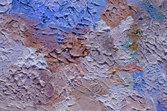 Multi-colored brushstrokes of oil paint on canvas Stock Photo