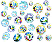 Multi-colored bubbles background Stock Photo