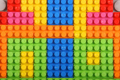Multi colored building blocks Stock Image