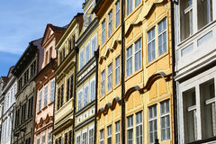 Multi colored buildings in Prague Royalty Free Stock Photography