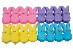 Multi-colored bunny easter candy Stock Photo