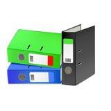 Multi-colored bureauomslagen. Vectorillustratie Royalty-vrije Stock Afbeelding