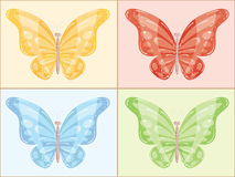 Multi-colored butterfly. Vector illustration Royalty Free Stock Image