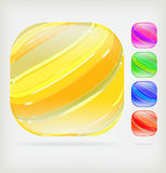 Multi-colored buttons. Pack of five different colored buttons Stock Illustration