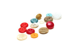 Multi-colored buttons Stock Images