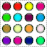 Multi-colored buttons Royalty Free Stock Images
