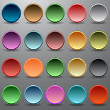 Multi-colored buttons Royalty Free Stock Photos